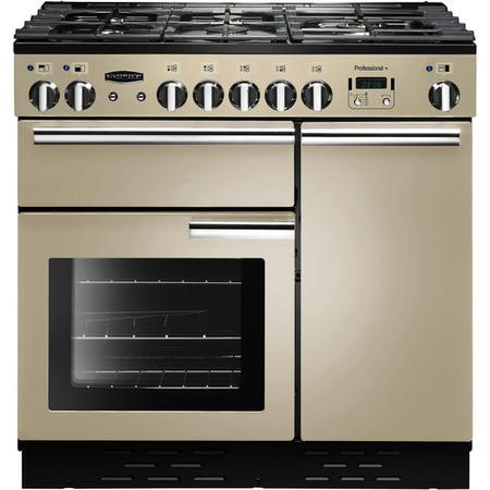 Rangemaster 91620 Professional Plus 90cm Dual Fuel Range Cooker - Cream