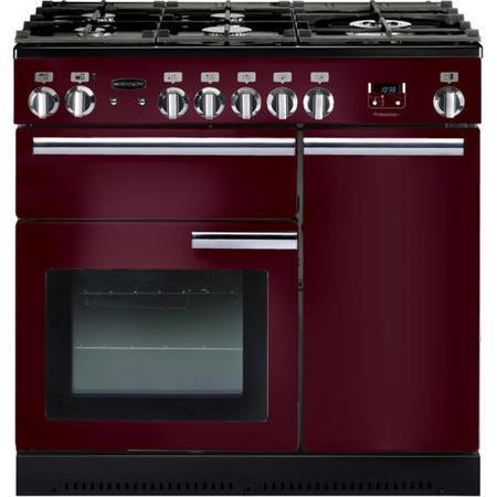 Rangemaster 91740 Professional Plus Cranberry 90cm Electric Range Cooker With Induction Hob