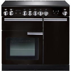 Rangemaster 91730 Professional Plus Black 90cm Electric Range Cooker With Induction Hob
