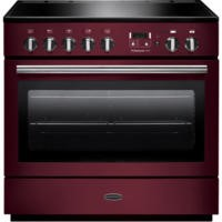 Rangemaster 96330 Professional Plus FX Cranberry 90cm Electric Range Cooker With Induction Hob