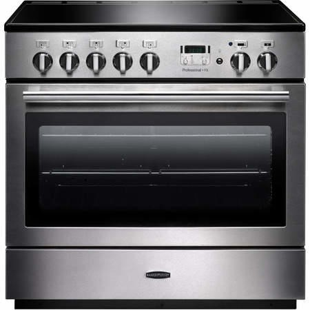 Rangemaster 96300 Professional Plus FX Stainless Steel 90cm Electric Range Cooker With Induction Hob