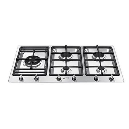 Smeg PS906-4 Classic Stainless Steel 5 Burner 87cm Gas Hob