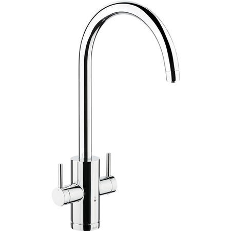 1810 Sink Company Brushed Steel Single Lever Aerated Mixer Kitchen Tap - Pronteau