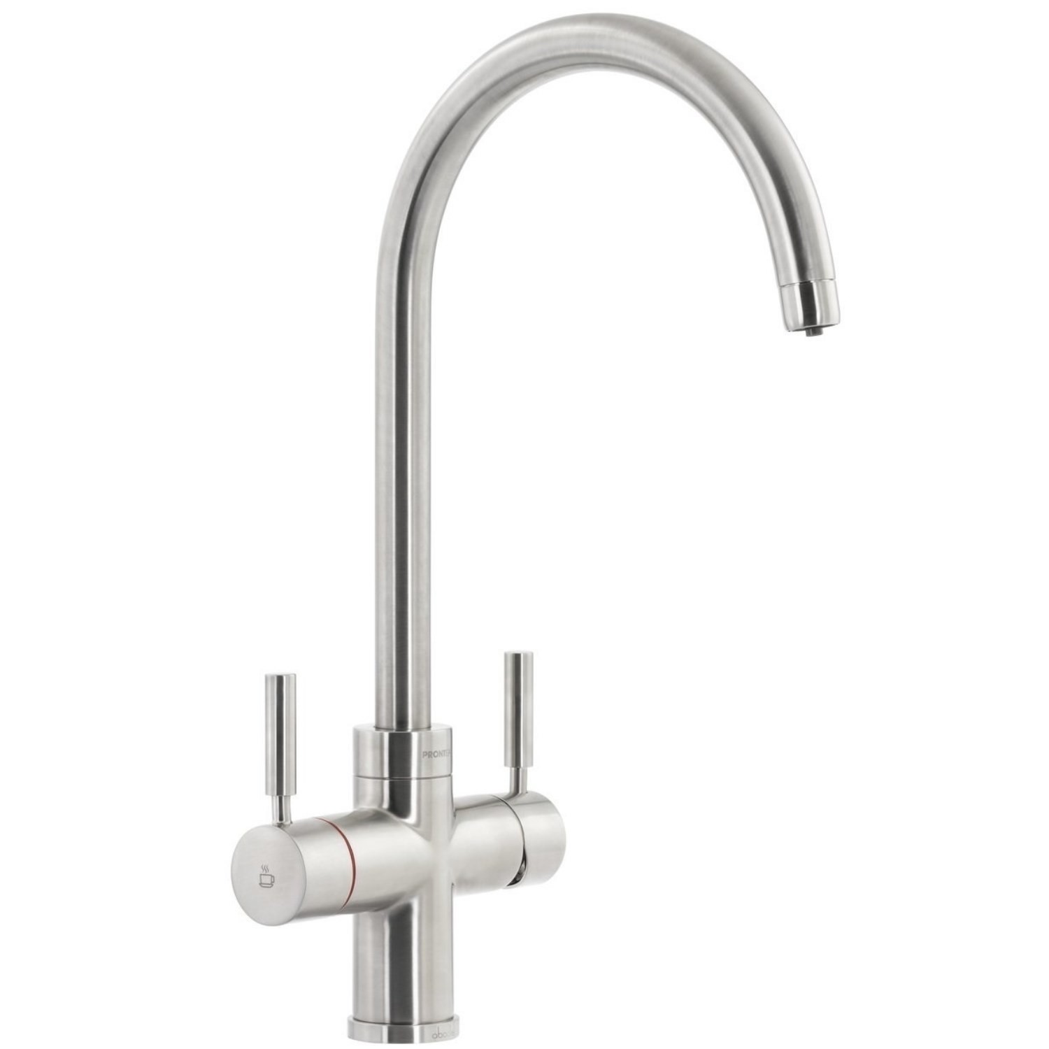 Abode PT1102 Pronteau 3 in 1 Prostream Monobloc Instant Boiling Water Tap -  Brushed Nickel