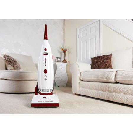 Hoover PU71PU01001 Purepower 700W Bagged Upright Vacuum Cleaner White and Red