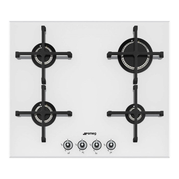 smeg pv164b linea 60cm 4 burner gas on glass hob white. Black Bedroom Furniture Sets. Home Design Ideas