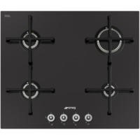 Smeg PV164CN Linea 60cm 4 Burner Gas-on-glass Hob With Straight Edge Glass - Black