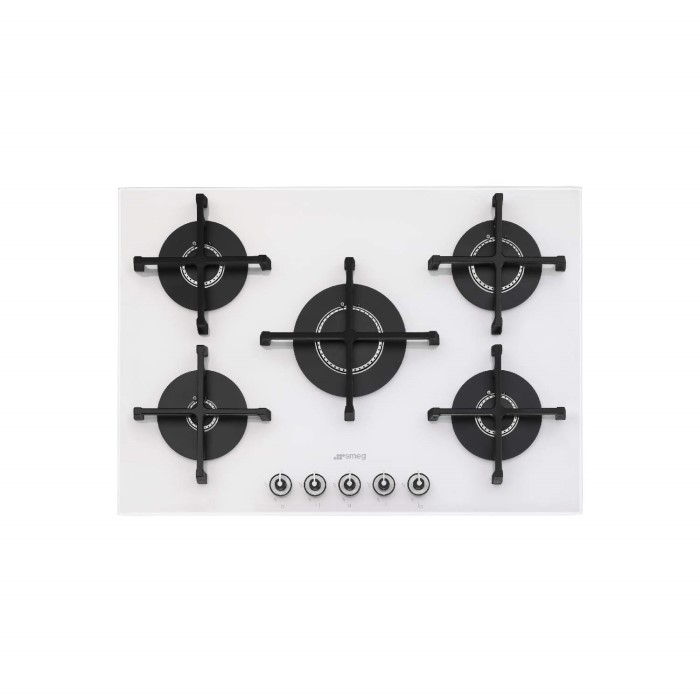 smeg pv175b 1 linea 75cm wide 5 burner gas on glass hob. Black Bedroom Furniture Sets. Home Design Ideas