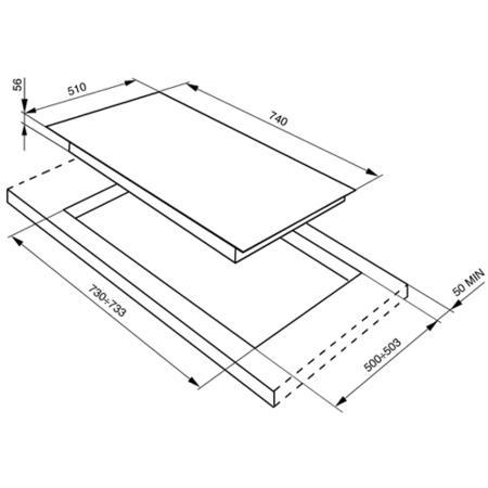 Smeg PVS750 Linea Ultra Low Profile 74cm Gas Hob Silver