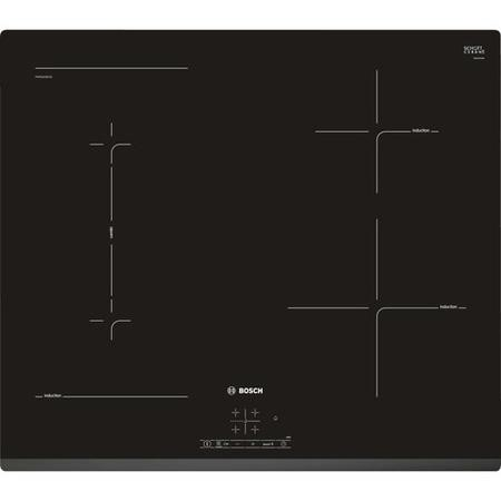 Bosch PWP631BB1E Serie 4 Front Facette 592 mm Induction Hob - Black