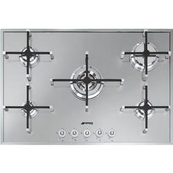 GRADE A1 - Smeg PX750 Linea 74cm Stainless Steel Ultra Low Profile 5 Burner Gas Hob