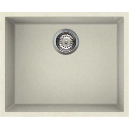 Reginox QUADRA105-C Large 1.0 Bowl Undermount Regi-Granite Sink Cream