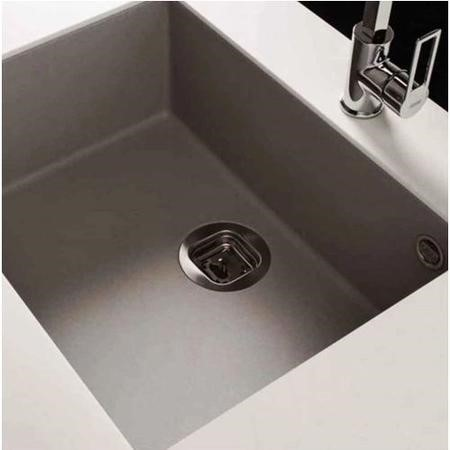 Reginox QUADRA105-TT Large 1.0 Bowl Undermount Regi-Granite Sink Titanium