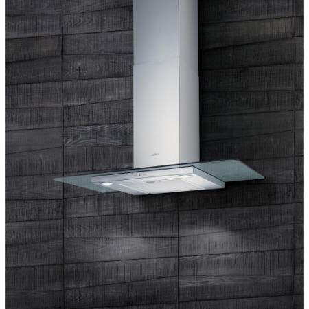 Elica QUARTZ-HE-60 High Efficiency 60cm Chimney Hood Stainless Steel With Flat Glass Canopy