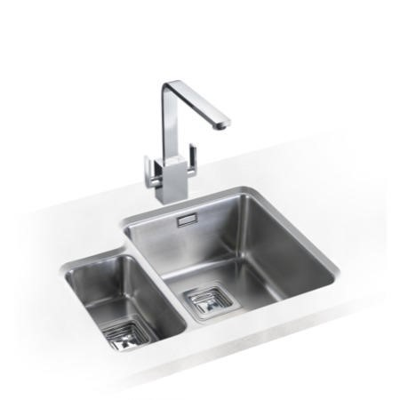 Rangemaster QUB3416L Quad Undermount 340x400 160x300 1.5 Bowl LHD Stainless Steel Sink