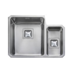 Rangemaster QUB3416R Quad Undermount 340x400 160x300 1.5 Bowl RHD Stainless Steel Sink