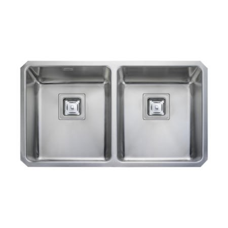 Rangemaster QUB3434 Quad Undermount 340x400 340x400 2.0 Bowl Stainless Steel Sink