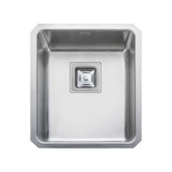 Rangemaster QUB34 Quad Undermount 340x400 1.0 Bowl Reversible Stainless Steel Sink