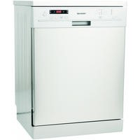 Sharp QWF471W 12 Place Freestanding Dishwasher - White Best Price, Cheapest Prices