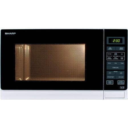 Sharp R372WM 25L 900W Freestanding Microwave in White