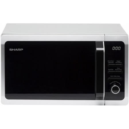 Sharp R664SLM 20L 800W Freestanding Microwave With Grill in Silver