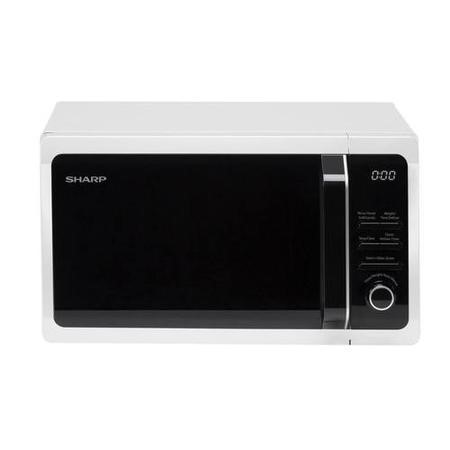Sharp R664WM 20L 800W Freestanding Microwave With Grill in White