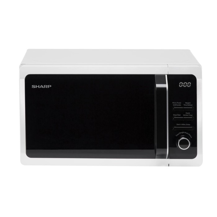 sharp r664wm 20l 800w freestanding microwave with grill in white appliances direct. Black Bedroom Furniture Sets. Home Design Ideas
