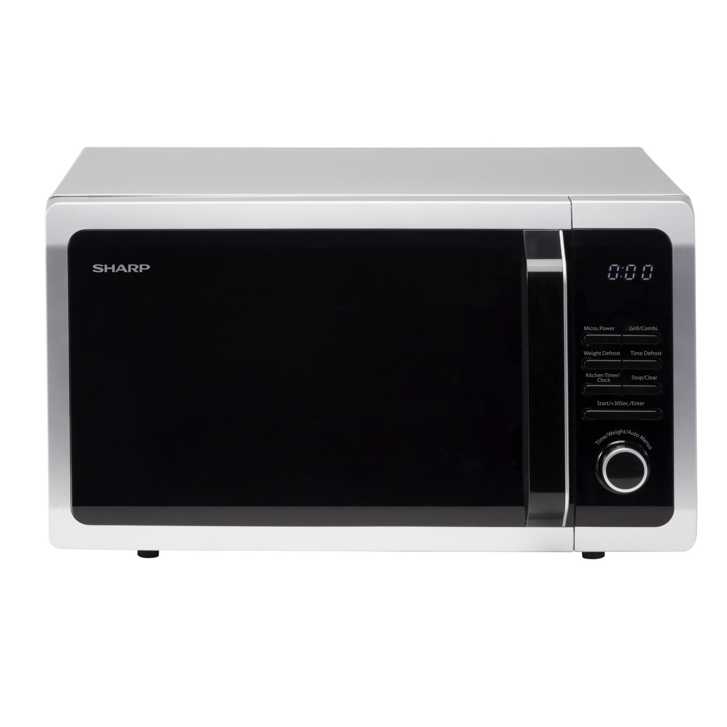 sharp r764slm 25l 900w freestanding microwave with grill. Black Bedroom Furniture Sets. Home Design Ideas