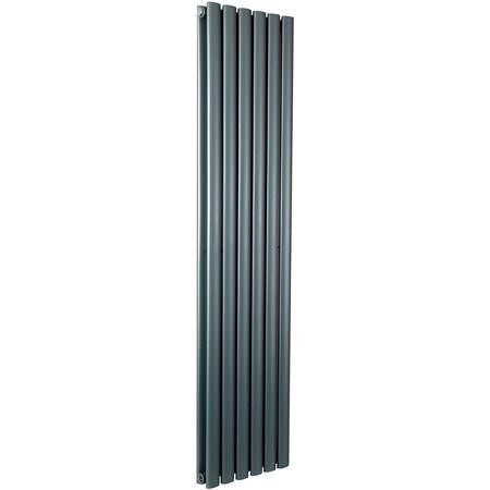 Idro Anthracite Modern Vertical Radiator - 1800 x 354 x 79mm