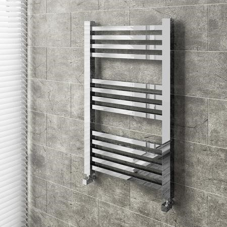 Chrome Bathroom Towel Radiator - 800 x 500mm