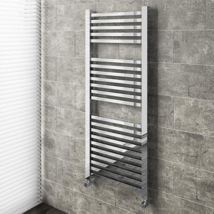 Modern Straight Heated Towel Rail Bathroom Radiator - 1200 x 500mm on bathroom towel heater, bathroom designs for the towel, bathroom radiator towel warmer, bathroom accessories, bathroom warmer designs,