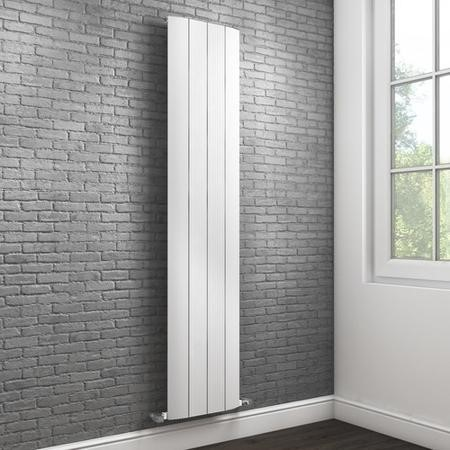 Vertical White Tall Flat Radiator - 1800 x 385mm