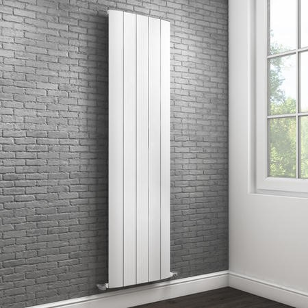 Vertical White Tall Flat Radiator - 1800 x 470mm