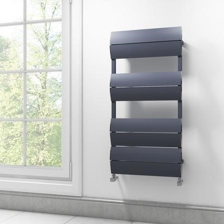 Anthracite Bathroom Towel Radiator - 1000 x 500mm