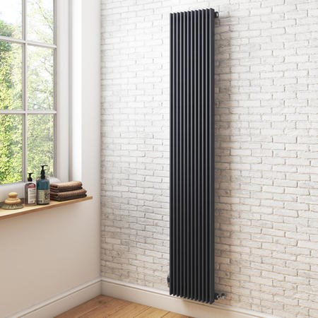 Vertical Anthracite Tall Radiator - 1800 x 324mm