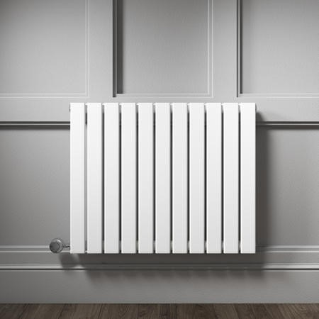 Horizontal White Flat Panel Radiator - 600 x 836mm