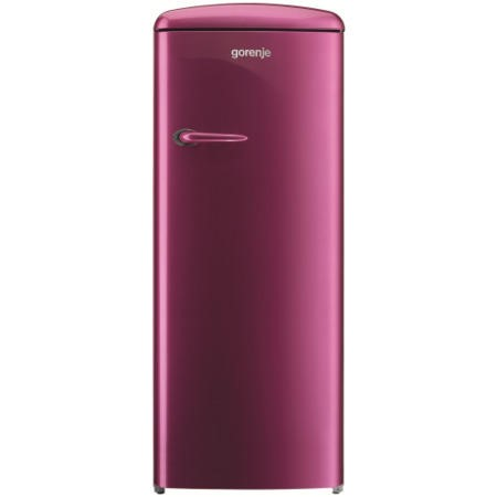 Gorenje RB60299OP Retro Style Right Hand Hinge Freestanding Fridge with Ice Box - Raspberry Pink