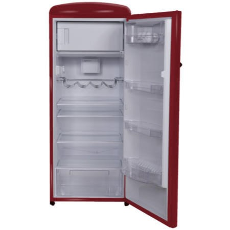 Gorenje RB60299OR Retro Style Right Hand Hinge Freestanding Fridge with Ice Box - Burgundy