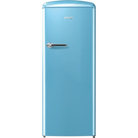 GRADE A1 - Gorenje RBO6153BL Retro Style Freestanding Fridge With Icebox - Baby Blue
