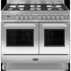 Britannia RC-10TG-QL-S Q Line Twin Oven 100cm Dual Fuel Range Cooker - Stainless Steel