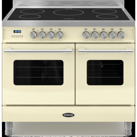 Britannia RC-10TI-DE-S Delphi Twin Oven 100cm Electric Range Cooker With Induction Hob - Stainless Steel