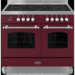 RC-10TI-FL-BUR Britannia RC-10TI-FL-BUR Fleet Twin Oven 100cm Electric Range Cooker With Induction Hob - Matt Burgundy