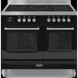 Britannia RC-10TI-QL-K Q Line Twin Oven 100cm Electric Range Cooker With Induction Hob - Gloss Black
