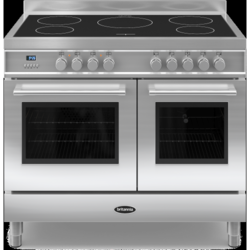 Britannia RC-10TI-QL-S Q Line Twin Oven 100cm Electric Range Cooker With Induction Hob - Stainless Steel