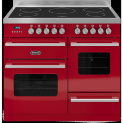 Britannia RC-10XGI-DE-RED Delphi XG 100cm Electric Range Cooker With Induction Hob - Gloss Red