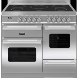 Britannia RC-10XGI-DE-S Delphi XG 100cm Electric Range Cooker With Induction Hob - Stainless Steel