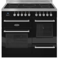 Britannia RC-10XGI-QL-K Q Line XG 100cm Electric Range Cooker With Induction Hob - Gloss Black