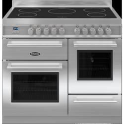Britannia RC-10XGI-QL-S Q Line XG 100cm Electric Range Cooker With Induction Hob - Stainless Steel