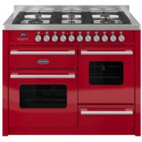 Britannia RC-11XGG-DE-RED Delphi XG 110cm Dual Fuel Range Cooker - Gloss Red
