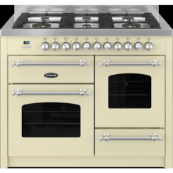 Britannia RC-11XGG-FL-CR Fleet XG 110cm Dual Fuel Range Cooker - Matt Cream